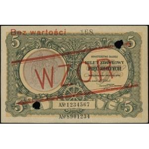 5 złotych 1.05.1925, seria A 1234567 / A 8901234, obust...