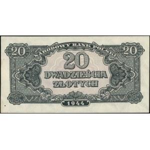 """20 złotych 1944, seria УУ, obowiązkowe"""", 40 sztuk bankn..."""