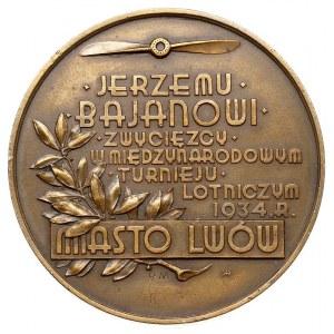 Jerzy Bajan, medal autorstwa Rudolfa Mękickiego, 1934 r...