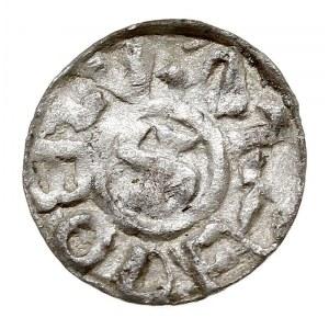 Denar po 1097, mennica Wrocław, Aw: Krzyż w formie swas...