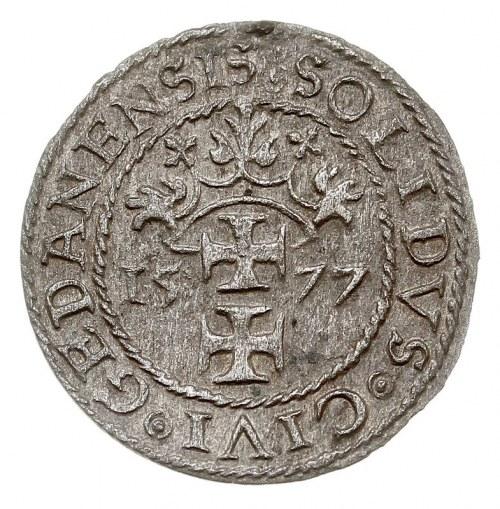 szeląg oblężniczy 1577, Gdańsk, T. 3, rzadko spotykany ...