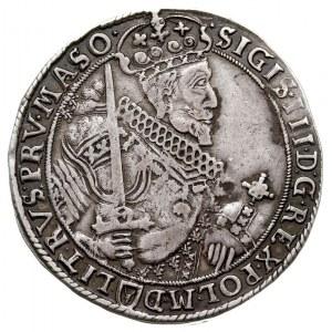 talar 1630, Bydgoszcz, Aw: Popiersie króla z kokardą z ...