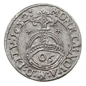 półtorak 1652, Wilno, odmiana z cyframi 06 w jabłku kró...