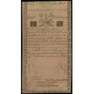 5 złotych polskich 8.06.1794, seria N.B.1, numeracja 28...
