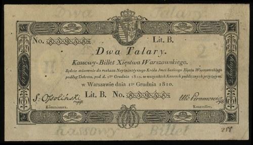 2 talary 1.12.1810, podpis komisarza S. Ossoliński, ser...
