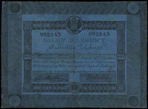 5 złotych 1824, podpisy Stawowski i Bolesta, numeracja ...