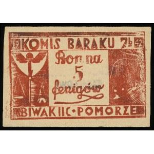 Komis baraku 7b, bon na 5 fenigów 1942, II seria, numer...