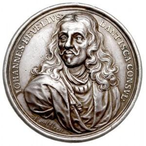 Jan Heweliusz, medal autorstwa A Karlsteen'a (medaliera...