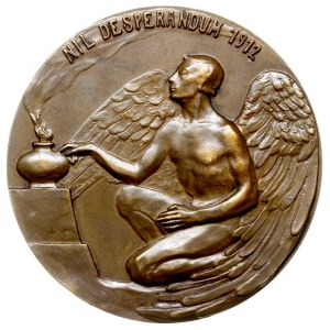 Hugo Kołłątaj, 1912, medal autorstwa Stanisława Popławs...