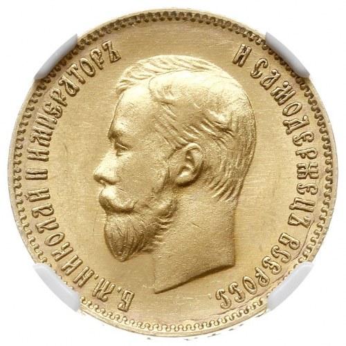 10 rubli 1903 АР, Petersburg, złoto, Bitkin 11, Kazakov...
