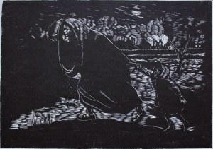 """Jonasz Stern (1904-1988), Ucieczka(z cyklu """"Getto lwowskie"""")"""