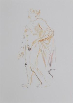 Oskar KOKOSCHKA (1886-1980) – według, Z greckiego szkicownika: Posąg ze świątyni Apolla