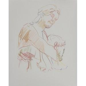 Oskar KOKOSCHKA (1886-1980) – według, Z greckiego szkicownika: Postać kobieca