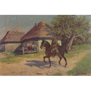 Aleksander MAKOWSKI (1869-1924), Ułan na koniu