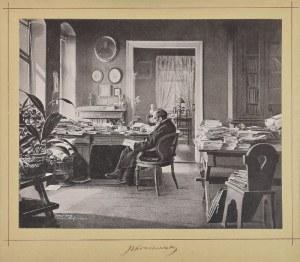 Fototypia: Józef Ignacy Kraszewski (1812-1887) - pisarz w swojej pracowni drezdeńskiej