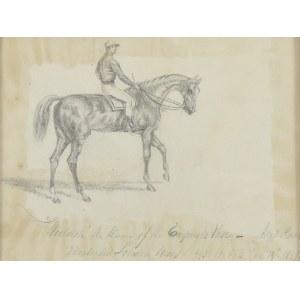 Nieustalony rysownik, Anglia, połowa XIX W., Woolrich the Winner of the Emperors Ascot  Race