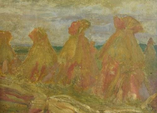 Niezidentyfikowany malarz europejski, Snopy na polu, 1931
