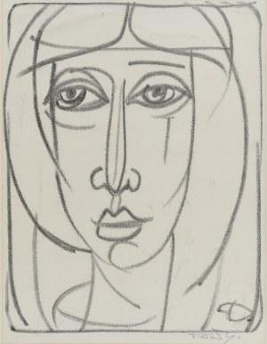 Stanisław DAWSKI (1905-1990), Twarz, z cyklu: Kobieta, l. 50 XX w.