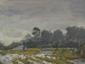 """Juliusz KRAJEWSKI (1905-1992), Para obrazów z cyklu """"Zima w Świdrze"""""""