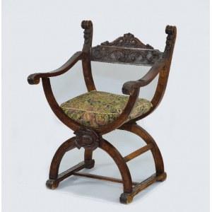 Fotel nożycowy tzw. fotel Dantego