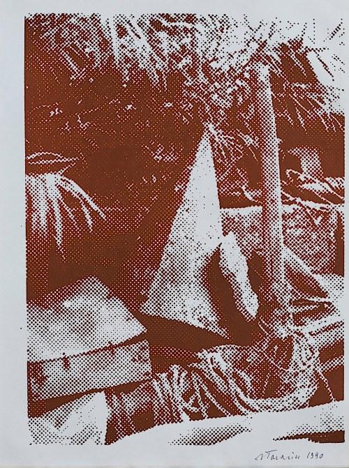 Jan Tarasin, W ogrodzie, 1990