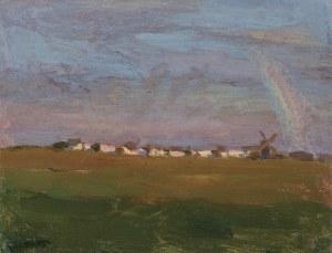 Ruszczyc Ferdynand, TĘCZA NAD WSIĄ, 1897-1898