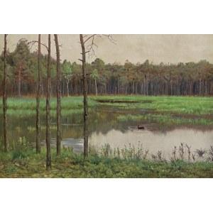 Chełmoński Józef, STAW W LESIE, 1894