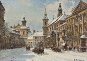Chmieliński (Stachowicz) Władysław, WARSZAWA. ULICA DŁUGA ZIMĄ
