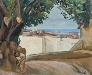 Mondzain Szymon (Simon), WIDOK NA PORT W ALGIERZE, 1927