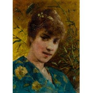 Henryk Piątkowski (1853-1932), Kobieta w kimonie