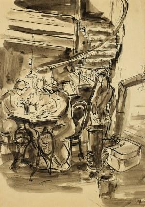 Antoni Uniechowski (1903 Wilno-1976 Warszawa), W pracowni krawieckiej