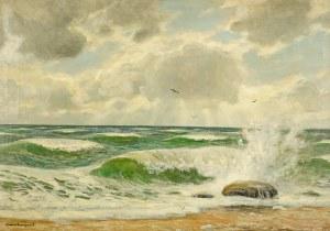 Bruno Bielefeld (1879 Blumenau-1973 Berlin), Mewy nad wzburzonym Bałtykiem - Ostsee