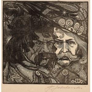 Stanisław Jakubowski (1885-1964), Cztery drzeworyty z Teki Bogowie Słowian, 1933 r.
