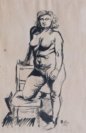 Jankiel Adler (1895 Tuszyn k. Łodzi - 1949 Aldbourne/Anglia), Akt, 1940 r.