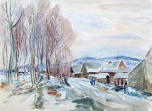 Henryk Epstein (1891 Łódź - 1944 Auschwitz), Wiejski krajobraz, l. 30.–40. XX w.