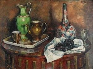Roman KRAMSZTYK (1885-1942), Martwa natura [Martwa natura z winogronami], ok. 1912