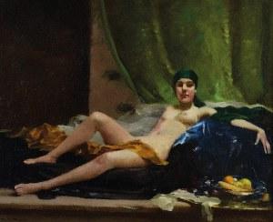 Rudolf NISSL (1870-1955), Akt leżącej kobiety