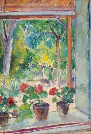 Stefan FILIPKIEWICZ (1879-1944), Doniczki z kwiatami w oknie