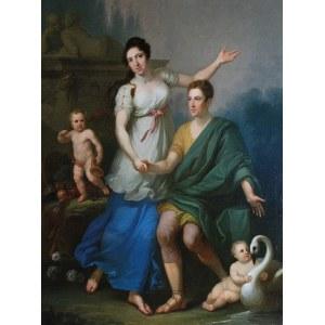 Jan Chrzciciel LAMPI Młodszy (1775-1837) - przypisywany, Portret Ferdynanda Higersbergera z żoną Anną z Masłowskich