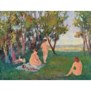 Włodzimierz DMYTRYSZYN (1905-1992), Śniadanie na trawie