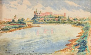 Stanisław Ignacy Poraj FABIJAŃSKI (1865-1947), Widok na Wawel, 1940