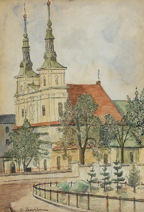 Konstanty LASZCZKA (1865-1956), Kościół św. Floriana na Kleparzu w Krakowie
