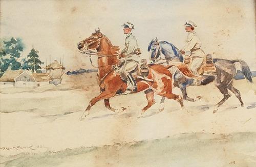 Karol KOSSAK (1896-1975), Konna przejażdżka, 1932