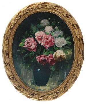 Abraham BEHRMAN (1876-1942), Róże w wazonie