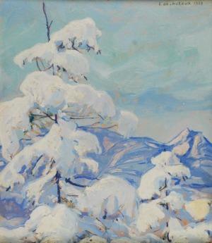 Ludwik DE LAVEAUX (1891-1969), Pejzaż zimowy