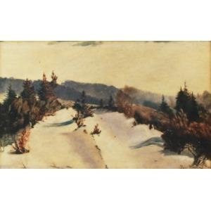 Georg WICHMANN (1876-1944), Pejzaż zimowy