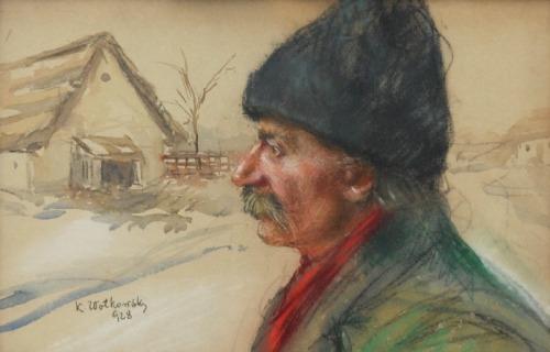 K. WOŁKOWSKI (XIX/XX w.), Chłop w czapce