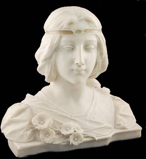 Vittorio POCHINI (XIX/XX), Popiersie dziewczyny - Madame Cleo de Merode, ok. 1905