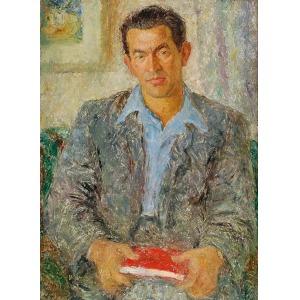 Janina SUSSLE-MUSZKIETOWA (1903-1956), Portret mężczyzny, ok. 1950
