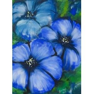 José Angel Hill, Blue flowers